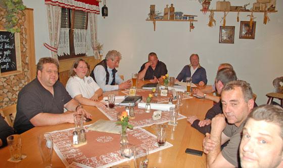 'Die Meister' bei der Mitgliederversammlung. Foto: Privat